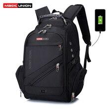 MAGIC UNION Brand Design męska torba podróżna mężczyzna szwajcarski plecak torby z poliestru wodoodporny z zabezpieczeniem przeciw kradzieży plecak plecaki na laptopa mężczyźni