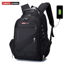 MAGIC UNION Brand Design Men's Travel Bag Man Swiss Backpack Polyester Bags Wate