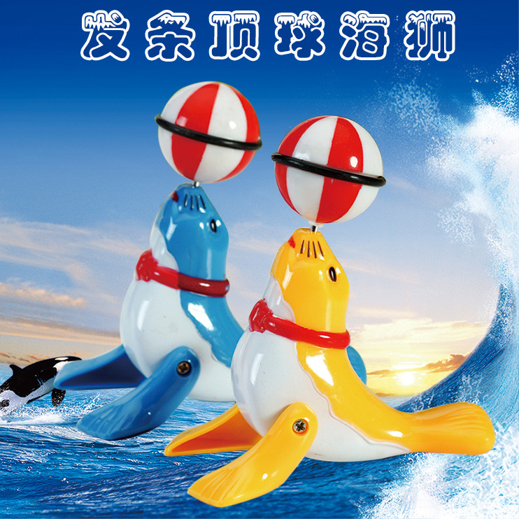 Winding Wind-up Toy Dolphins/Small Sea Lions/Walking Acrobatics Pop And Tip/360-Degree Rotating Booth Goods