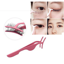False Eyelash Tweezers Fake Eye Lash Applicator Eyelash Extension Curler Nipper Auxiliary Clip Clamp Makeup Forceps Tools цена и фото