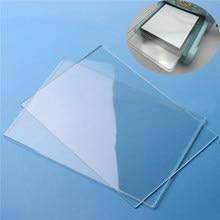 Placas de corte transparentes acrílicas genéricas de 2 pces x 155mm * 225mm * 3mm para o tiro grande