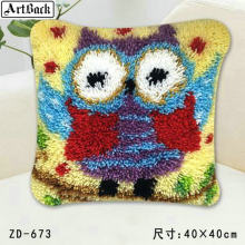 Animal Series Latch Hook Rug Kits owl 3D Segment Embroidery Pillow Wool Cross Stitch Carpet Embroidery DIY Latch Hook Pillow(China)