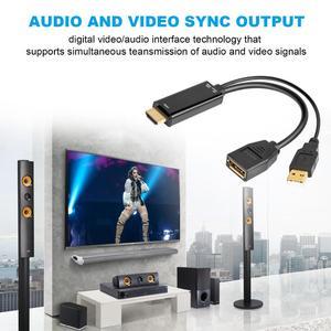 Image 5 - Extensión HDMI macho 3840x2160 UHD 4K a DisplayPort adaptador hembra 15cm Cable con alimentación USB 2,0 para HDMI PC DP Dosplay