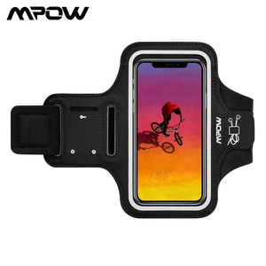 Image 1 - Mpow Sport Gym Armband Case For iPhone X Adjustable Running Arm Band On Hand Smartphone Cell Phones Hand Bag For iPhone Case
