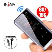 16GB bluetooth MP3 Player Earphones HiFi fm Radio mini USB mp3 Sports MP 4 HiFi Portable Music Players Voice Recording Recorder цена и фото