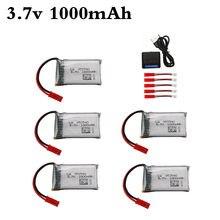 Lipo 3.7V 1000mAh Bateria e Carregador para HQ898B H11D H11C H11WH T64 T04 T05 F28 F29 T56 T57 zangão RC Peças 952540 Bateria