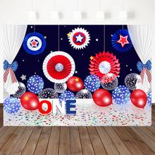 1st на день рождения красного и синего цветов Воздушные шары