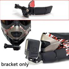 1PC Full Face Helmet Chin Mount Holder For GoPro Hero 9 Strap Front Insta360 Accessories Chin 5Yi Mount Camera 4K 8 Flodabl