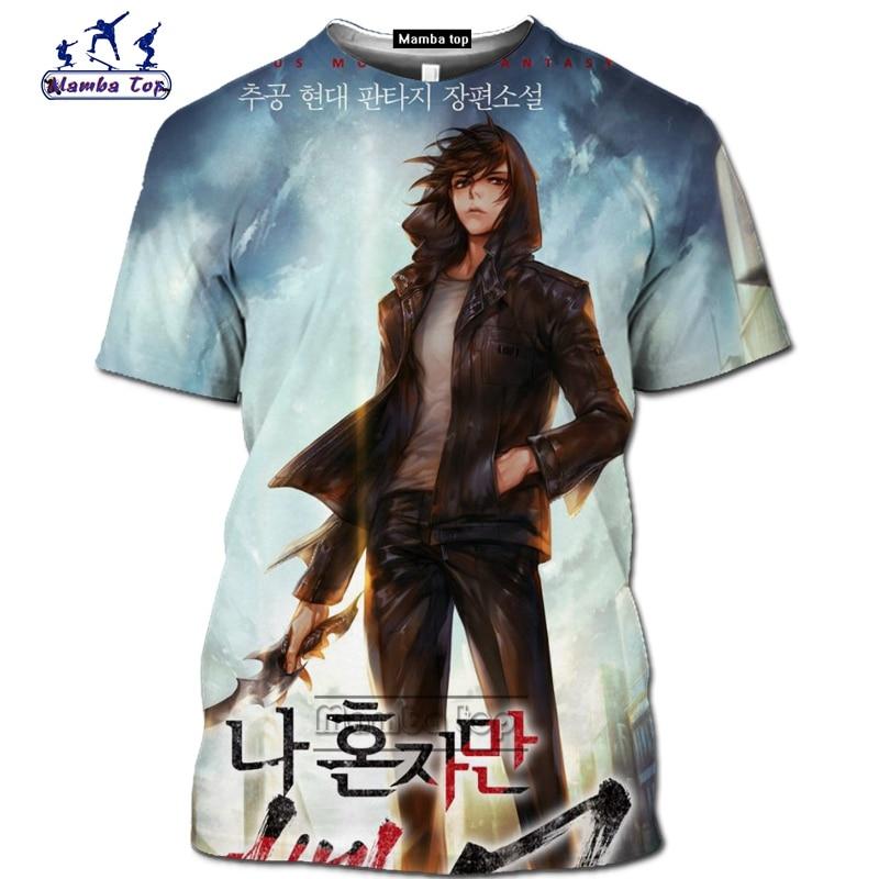 Mamba top Hot Comic Solo Leveling shirt homme fashion funny men T-Shirts 3D Anime Harajuku Jin-woo tee Short sleeve Streetwear (5)