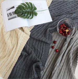 Image 2 - 솔리드 컬러 담요 침대 커버 소프트 던지기 담요 침대보 침구 니트 담요 에어 컨디셔닝 편안한 잠자는 침대 커버