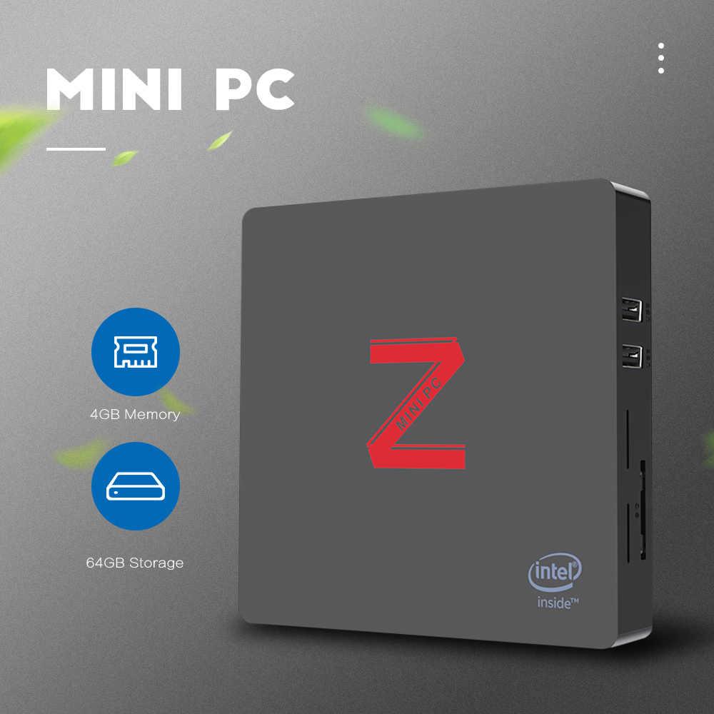 Z85 מיני מחשב Atom X5-Z8350 Quad Core Windows 10 2.4G + 5.8G Wifi BT4.0 1000Mbps 2GB /4GB 64GB ROM VGA + HDMI כפול מסך תצוגה