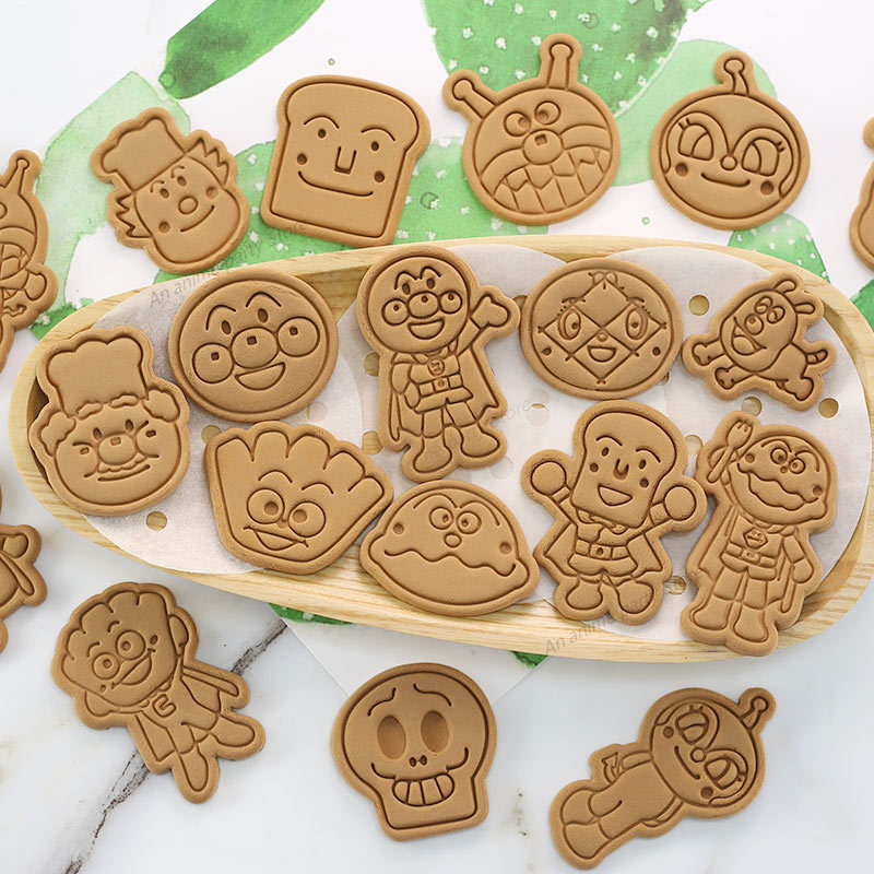 319.0¥ 30% OFF Anime Anpanman Cookie Cutter Cute Japanese Cartoon Biscuit Mold Household Baking DIY...