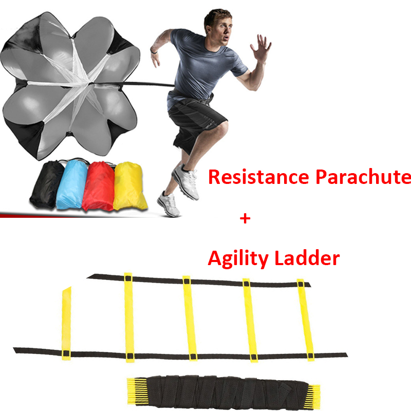 1 6m 12 Rung Agility Ladder & Resistance Parachute Agility Training Set for Soccer Football Speed Running Training Power Exercise