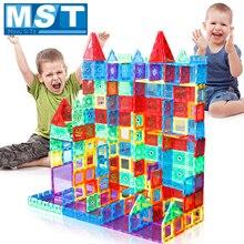 98 قطعة مغناطيس كتل شفافة بنة البلاط ثلاثية الأبعاد كتل مغناطيسية الاطفال منشئ لعب الأطفال لعبة الإبداع اللعب