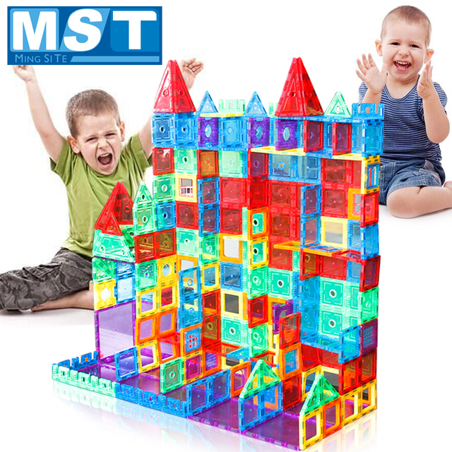 98PCS Trasparente Magneti Blocchi set di Blocco Costruzione Piastrelle 3D Magnetico Blocchi Bambini Costruttore Playboards Bambino Gioco Creatività Giocattoli