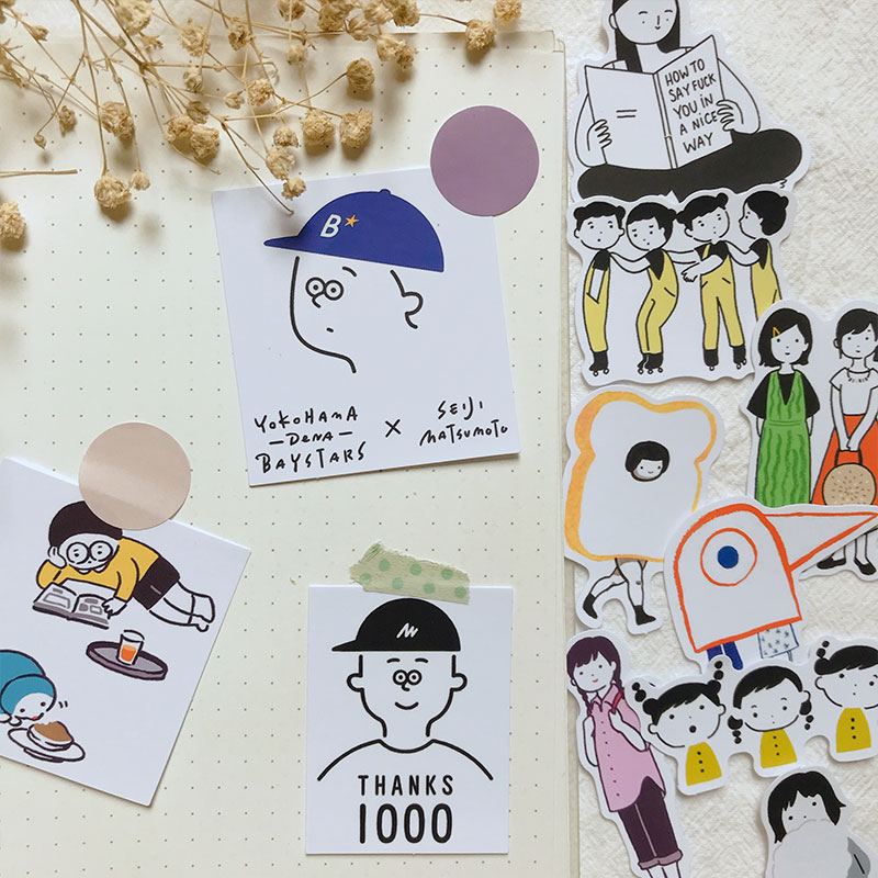 11PCS Cute Boy Girl Stickers Crafts And Scrapbooking Stickers Book Student Label Decorative Sticker Kids Toys