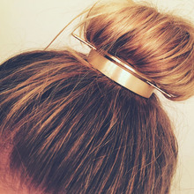 Bun Cage Top-Hairpin Hair-Stick Hair-Accessories Bun-Holder Round Design Alloy Girl Minimalist