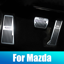 цена на Car Accelerator Brake Clutch Pedal Footrest Pedal Plate Cover For Mazda 3 6 CX-5 CX5 CX-3 2017 2018 2019 CX-7 CX-9 Axela ATENZA