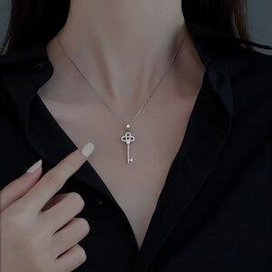 925 пробы серебряная подвеска в форме ключа для женщин нишу дизайн светильник класса люкс 2020 новые Ins холодной Стиль 2021 цепочка с кулоном