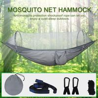 Outdoor Camping Quick Open Mosquito Net Hammock Tree Simple Tent Parachute Cloth Anti mosquito Swing Hammock