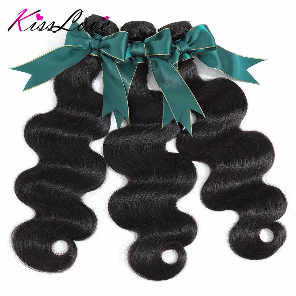 Indian hair extension Body Wave Bundels Remy Haar Menselijk Haar 1/3 Stuk menselijk haar bundels
