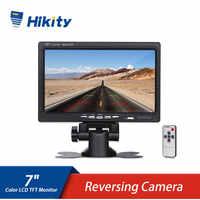 Hikity-Monitor TFT LCD de 7 pulgadas, Monitor HD a Color, pantalla de visión trasera de coche, para cámara de respaldo de vehículo, sistema de asistencia para aparcamiento