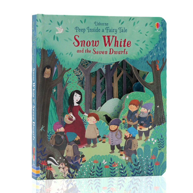 Peep Inside a Fairy Tale Snow White 3D Flap Picture Books Children Baby English Educational Reading