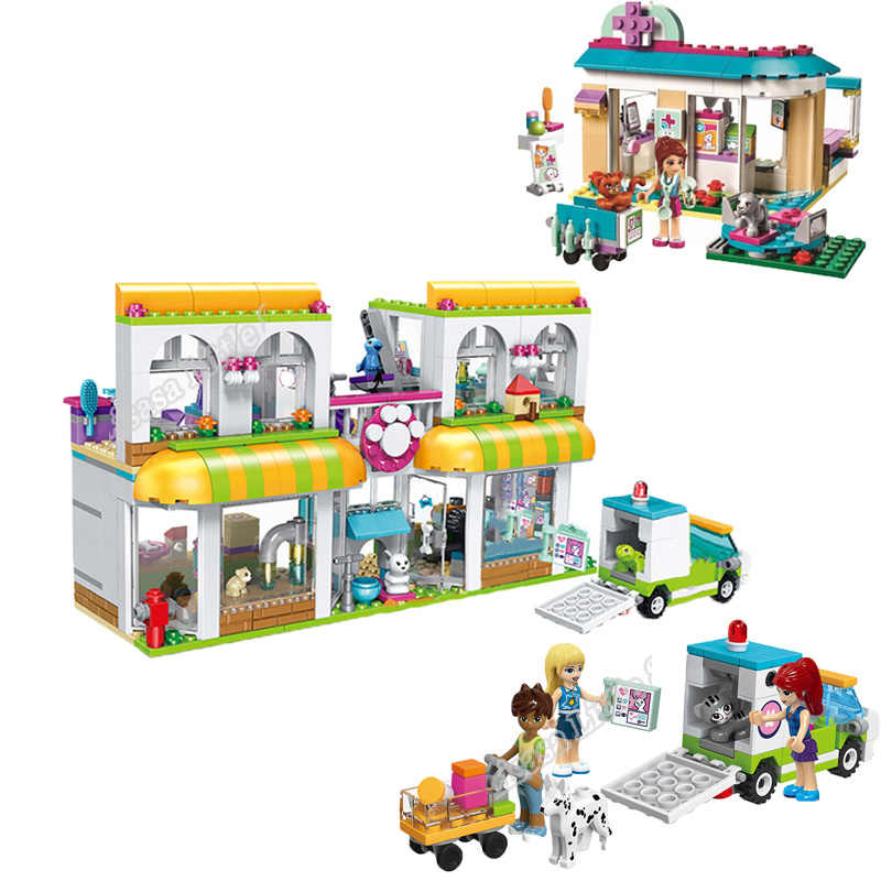 New Girl Friends Pet Center HeartLake Hospital Building Blocks Model Toys Marvel Legoinglys Christmas Gifts For Children 41345