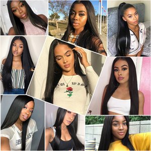 Image 5 - Angel Grace Hair Brazilian Straight Hair Bundles 1/3/4 Bundles 30 32 34 inch 100% Human Hair Weave Bundles Remy Hair Extensions