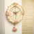 A010 2017 Новый дизайн розовые кварцевые настенные часы Свинг немой цветочный дизайн moeden часы раз сильная посылка - изображение