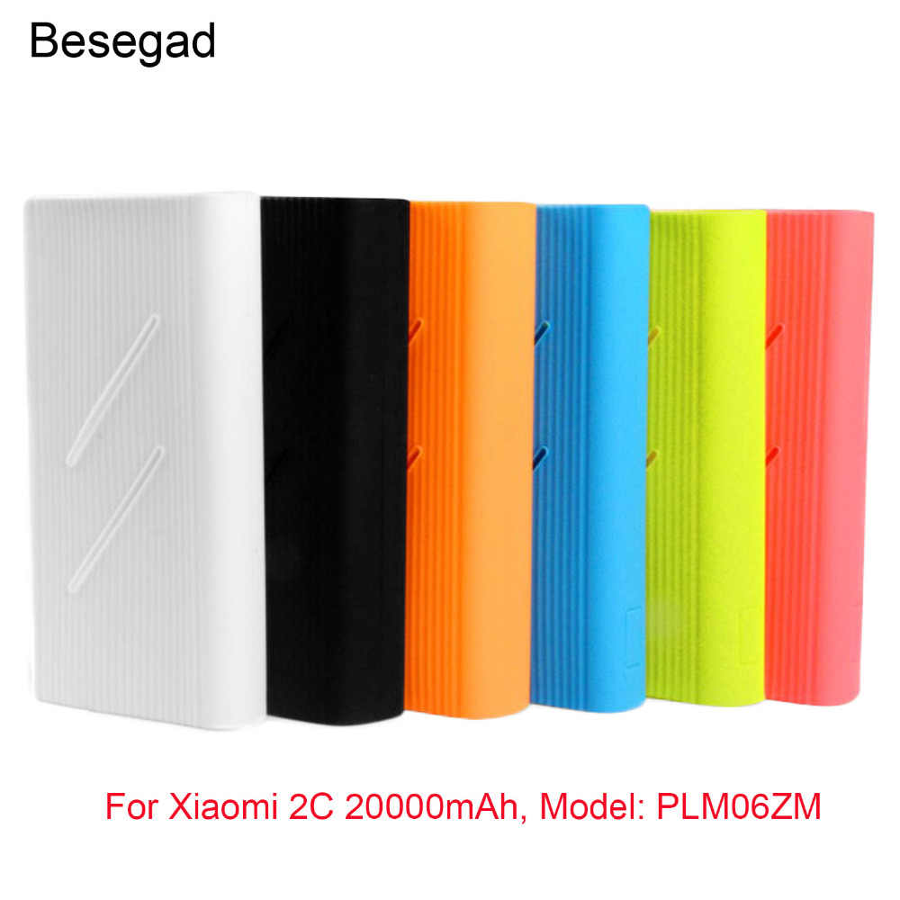 Lembut Karet Silikon Gel Perlindungan Case Penutup Kulit Lengan Pelindung untuk Xiaomi Power Bank 2C 20000 M Ah Aksesoris