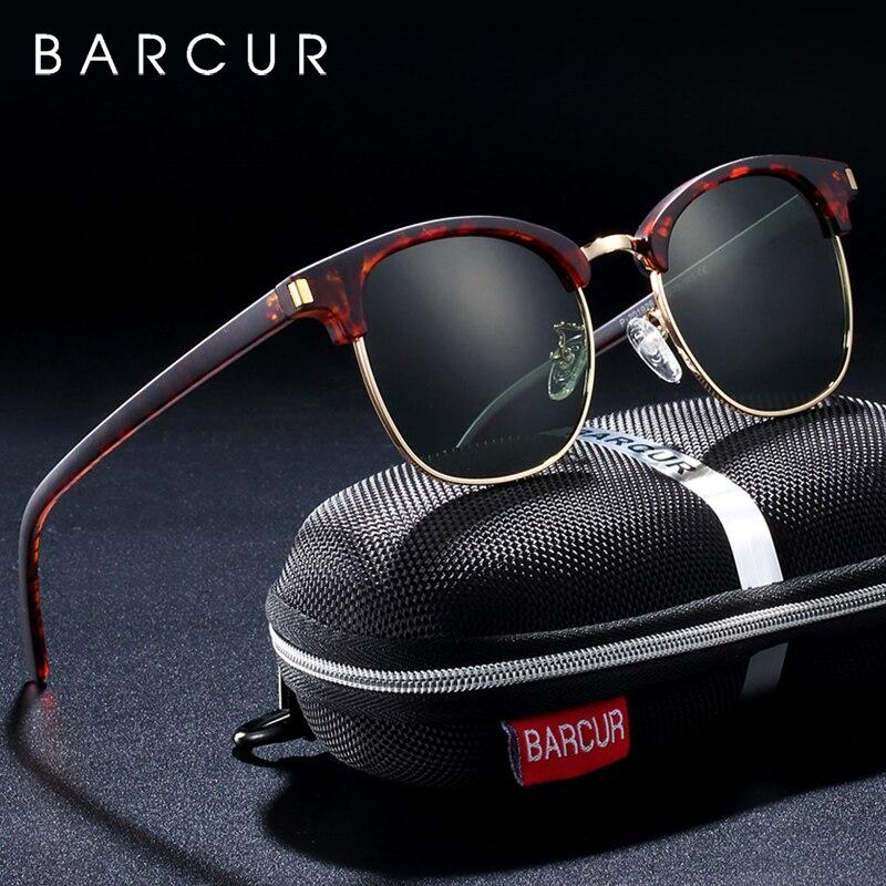 BARCUR Women Sun Glasses Men Sunglasses Polarized Shades Female Oculos lunette de soleil femme