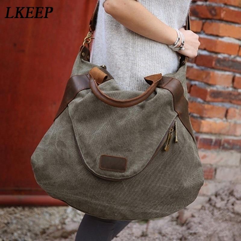 Большая сумка-шоппер с карманами, повседневные женские сумки, сумки на плечо, холщовые вместительные сумки для женщин, сумка-мессенджер для ...