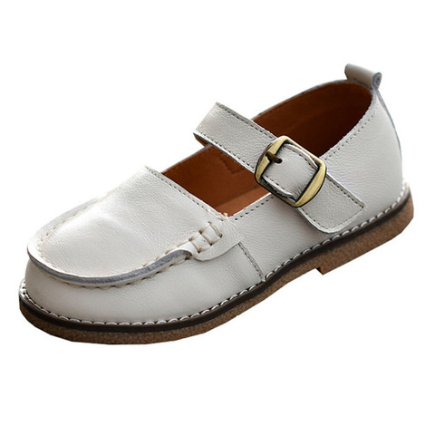 mhyons meninas de couro retro unico sapatos princesa sapatos 2020 primavera e outono modelos pequeno