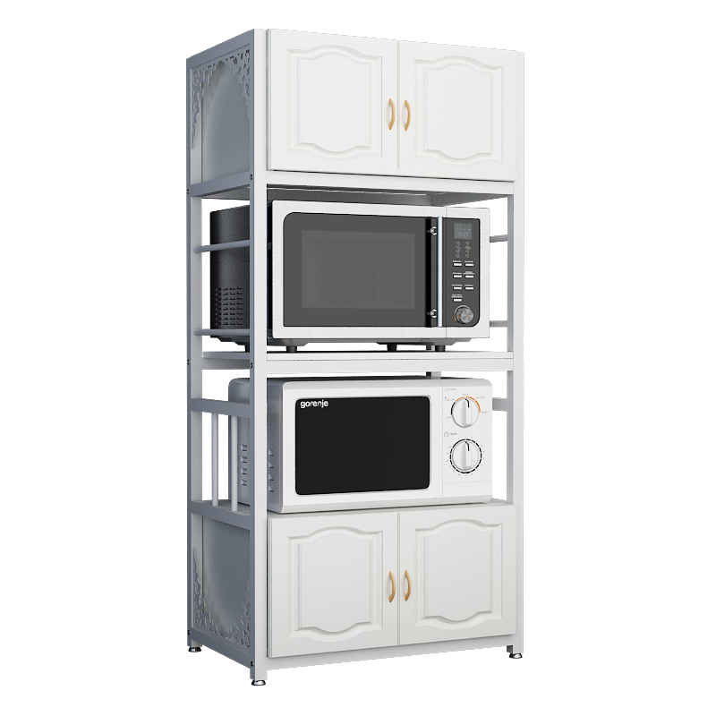 microwave rack oven storage shelf dining side cabinet kitchen shelf floor to ceiling multi layer cabinet saving space