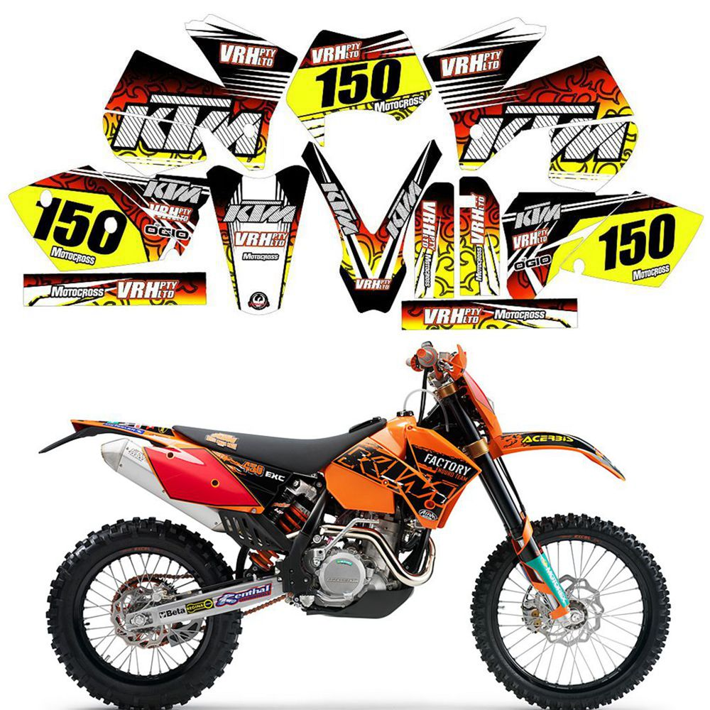 2003 FITS KTM EXC 200 250 300 450 525 GRAPHICS KIT DECO DECALS STICKERS
