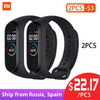 In Stock Original Xiaomi Mi Band 4 Smart Miband 3 Color Screen Bracelet Heart Rate Fitness Music Bluetooth 50M Waterproof Band 4