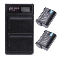 2 sztuk En El15 bateria i Lcd podwójna bateria Usb ładowarka do Nikon Z6  Z7  D850  D810  D810A  D800  D800E  D7500  D7200  D7100  D7 w Akcesoria do baterii i ładowarek od Elektronika użytkowa na