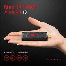 X96 S400 Tivi Mini Dính Hộp Set Top 2.4GWIFI HD Chơi Mạng Allwinner H313 Android Box Android 10.0 quad Core 4K Đầu Thu Truyền Hình