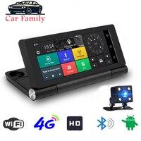 7 4G Wifi ADAS Car DVR Dash Camera Android 5.1 Full HD 1080P GPS Navigation Video Recorder Bluetooth Dual Lens Dash Cam