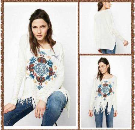 100% cotton Spanish DEG spring and autumn knitted  sweater XS-XXL 3