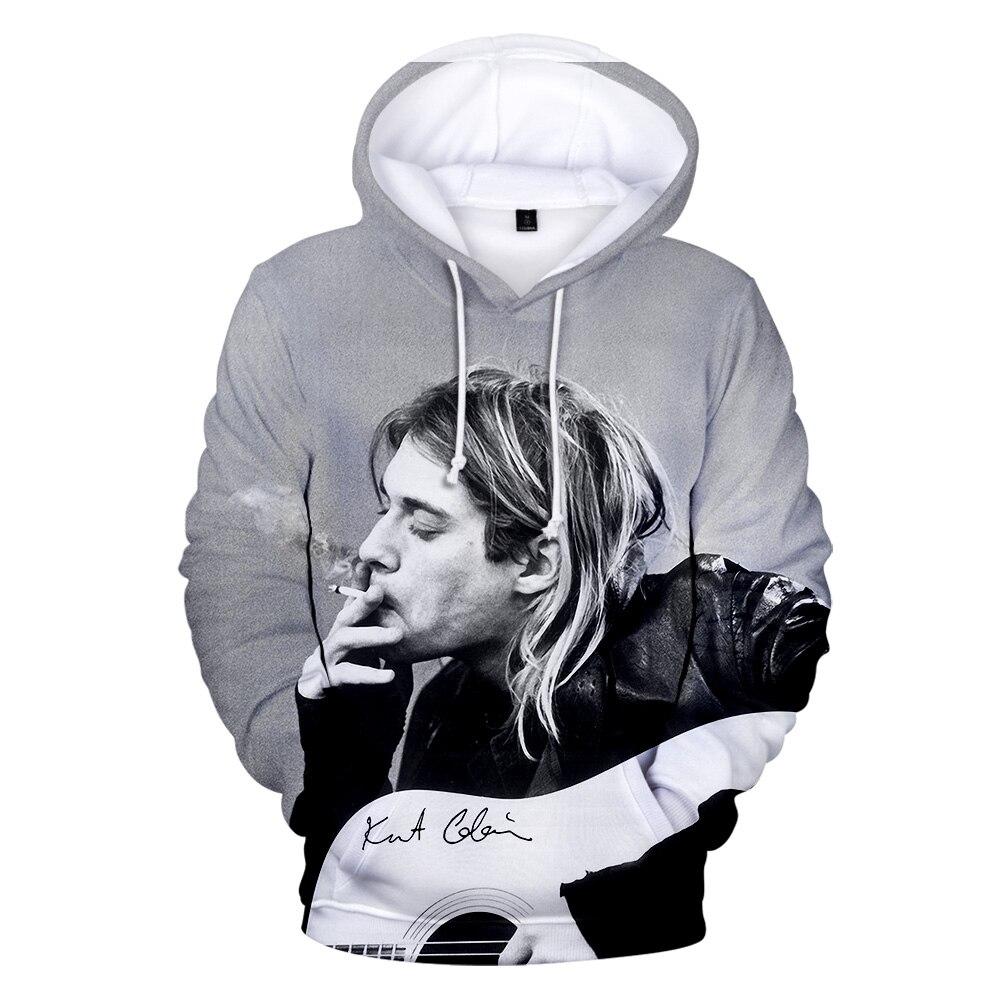 New 2020  Rock Kurt Cobain 3D Hoodie For Men Printed Hip Hop Costume Kids Hoodie Sweatshirt Funny Unisex Tracksuit