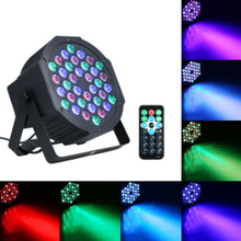 Remote Control 36 LED RGBW Stage Light Flat Lamp Par Lights DMX512 Club Bar DJ Party Disco Lighting