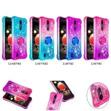 Bling Quicksand Phone Case For LG K8 K40 K12 Plus Stylo 5 4 Aristo 2 Q stylus LV3 Cover TPU Glitter Liquid Back