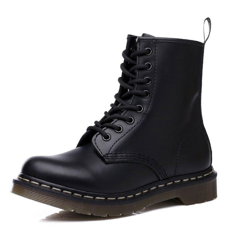 Doc Men Shoes Mens Winter Boots Women Leather Ankle Cowboy Waterproof Motorcycle Casual Boot Coturno Botas Hombre Zapatos De