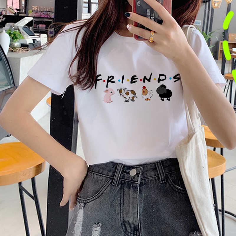 Nieuwe Vegan Leuk Varken Harajuku Ullzang T-shirt Vrouwen Stijl Mode T-shirt 90 S Grafische Wit T-shirt Kawaii Printingtop Tee vrouwelijke
