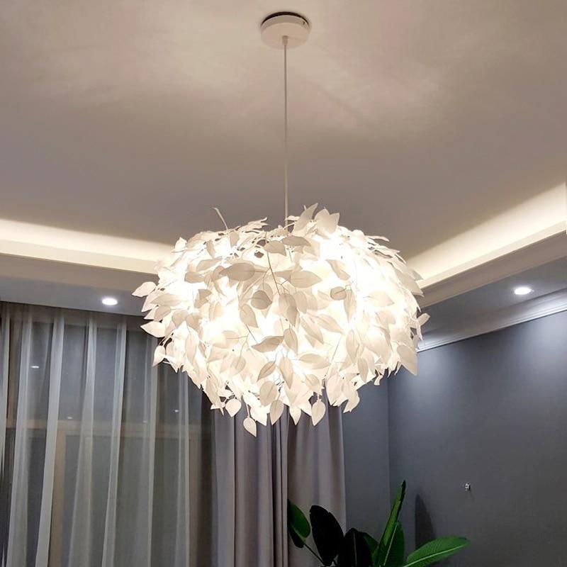 Modern LED Chandelier Fashion Creative Avant-garde Leaf Decoration Restaurant Bar Cafe Living Room Lighting