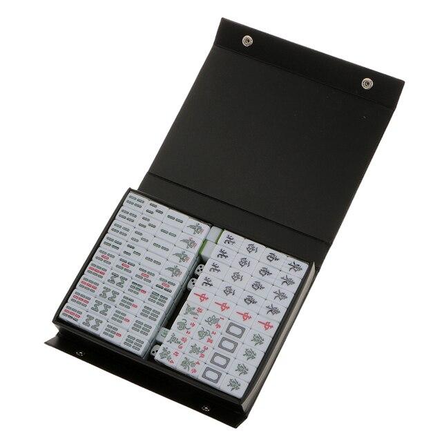1 Set Van Chinese Traditionele Mahjong Board Game Verzamelen Party Fun Speelgoed Lichtgroen