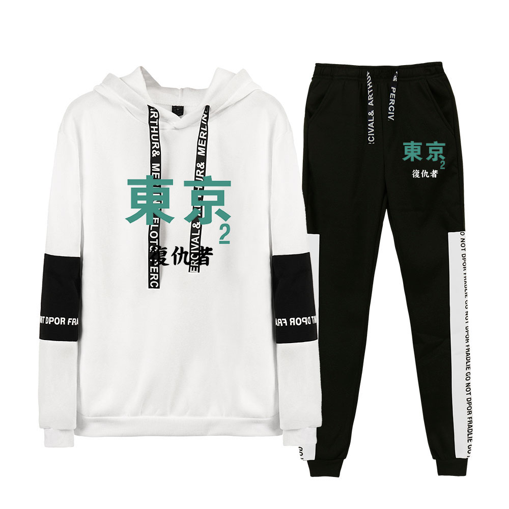 Hot sale Harajuku Tokyo Revengers Hoodies Sports Women Men Two Piece Suit Autumn Winter Long Sleeve Hoodies+Sweatpants Sets