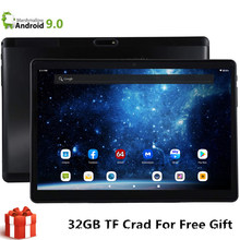 S119 emmc 32gb + 32gb tf 10 Polegada tablet global 3g bluetooth wifi phablet android 9.0 mtk duplo cartão sim 2.5d tablet banda do ce